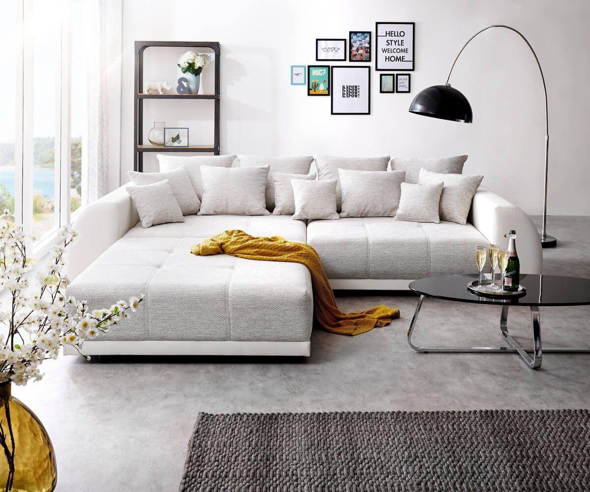 Bigsofa Violetta 310x135 cm inklusive Kissen Big-Sofa in