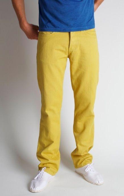 Mens Yellow Jeans - Xtellar Jeans