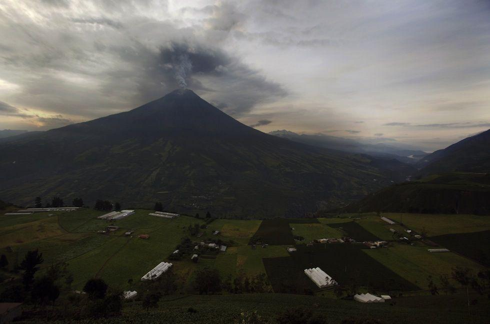 volcano Tungurahua, in Ecuador