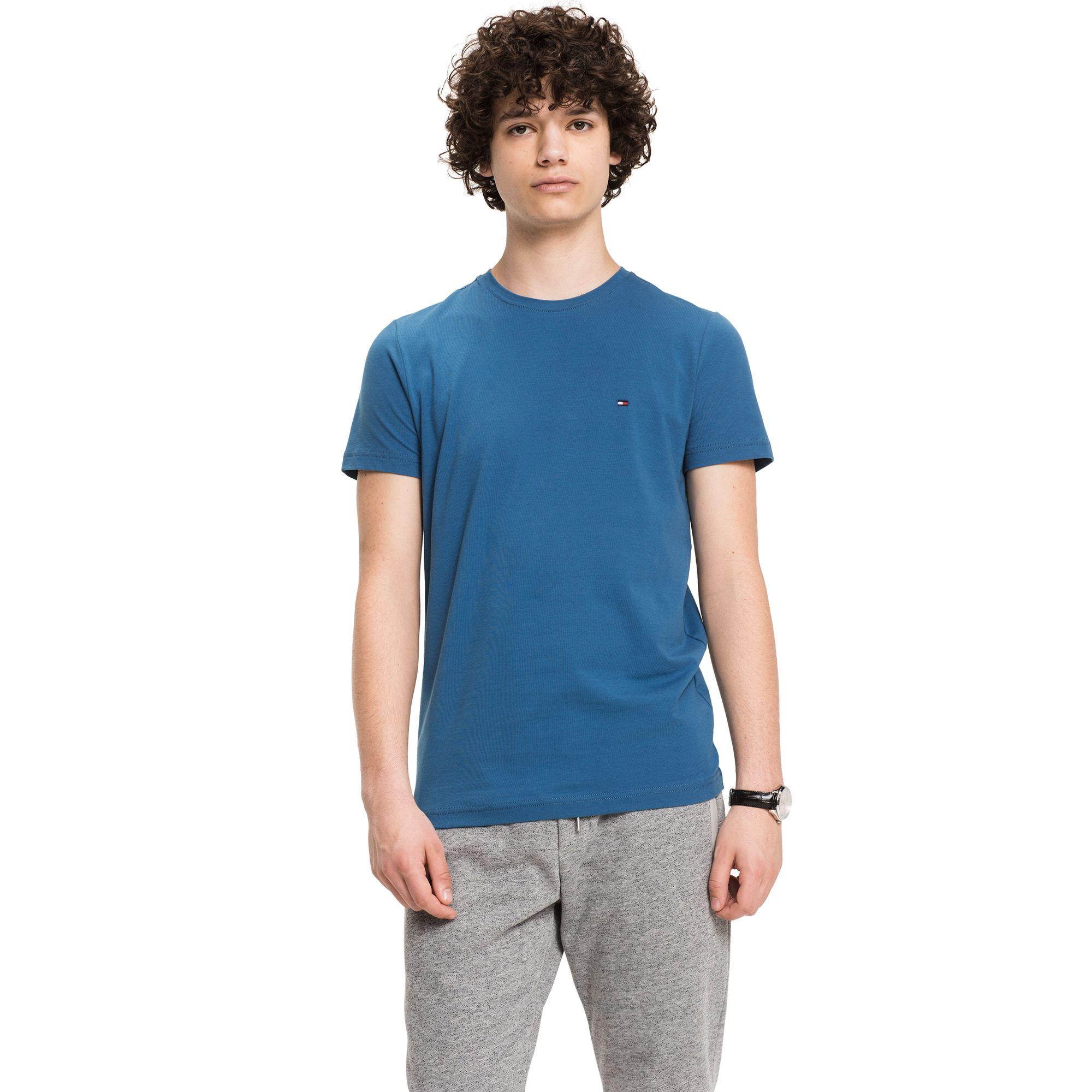 9822119e5f49 TOMMY HILFIGER SLIM FIT STRETCH TEE - DARK BLUE.  tommyhilfiger  cloth