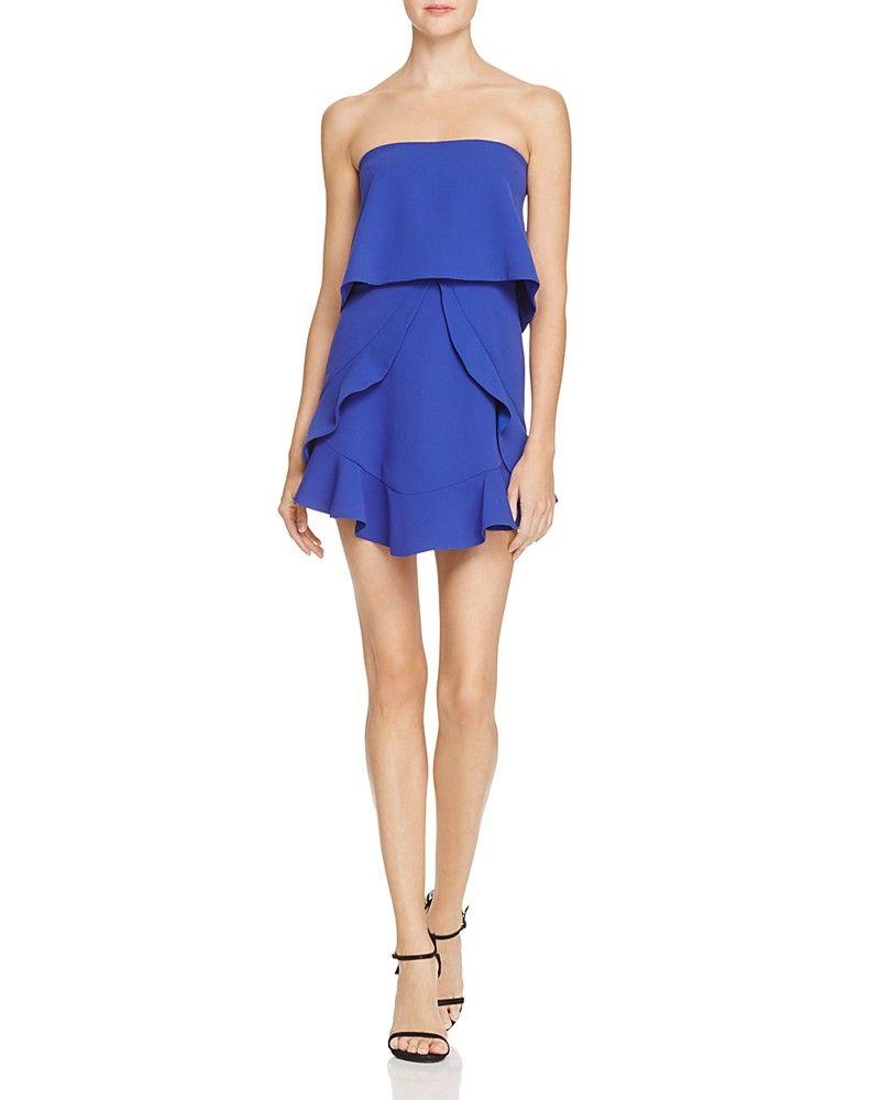 Bcbgmaxazria Strapless Ruffle Popover Dress 100 Exclusive Women Dresses Bloomingdale S Strapless Cocktail Dresses Dresses Strapless Ruffle Dress [ 1000 x 800 Pixel ]