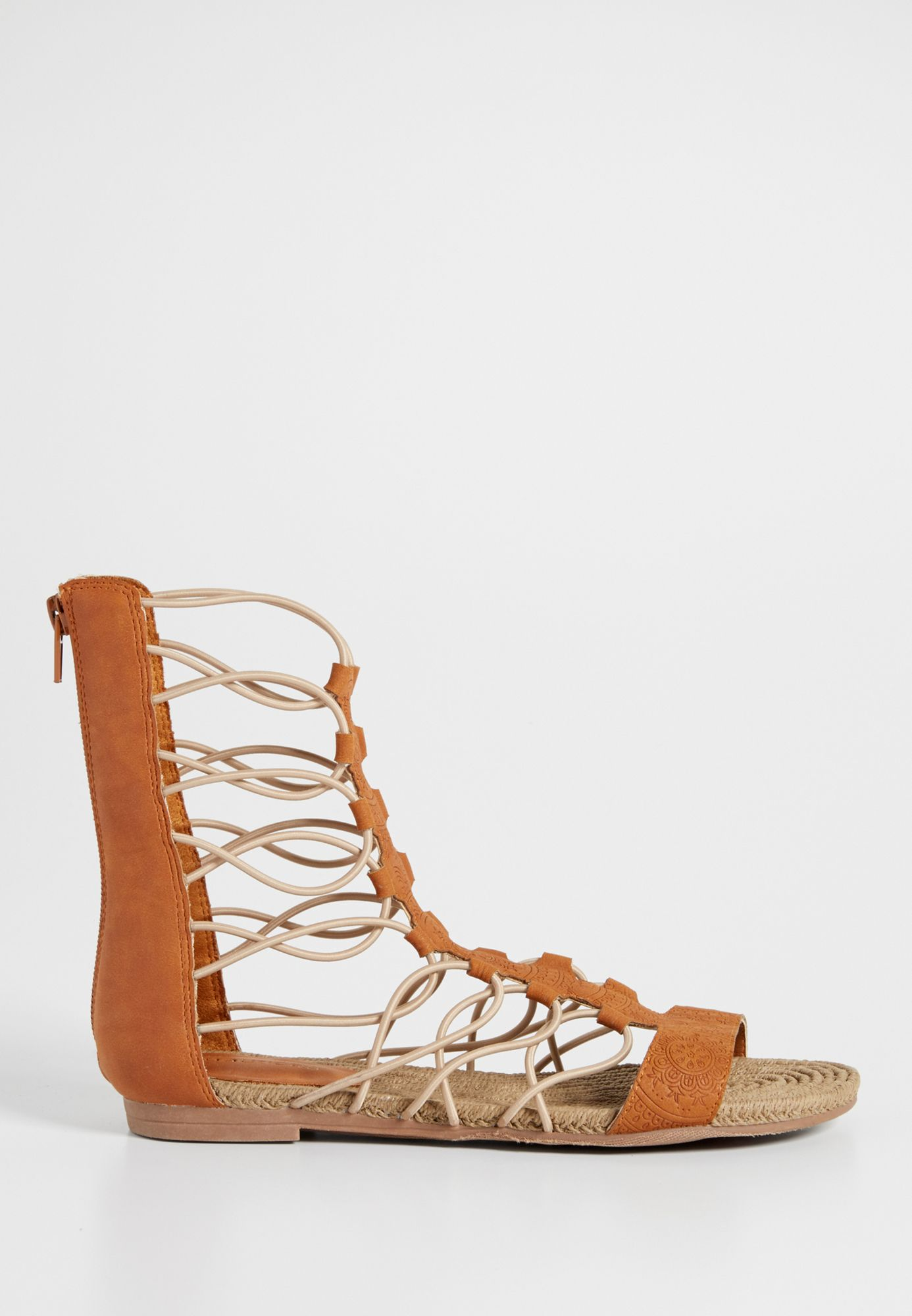 Braxton etched faux leather gladiator sandal (original price, $39.00) available at #Maurices