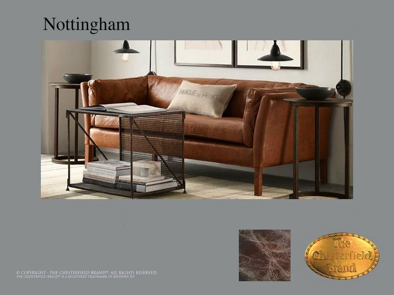 Chesterfield 2 Sitzer Sofa\u003c br\u003eNottingham 2 Old Look Braun - wohnzimmer design braun