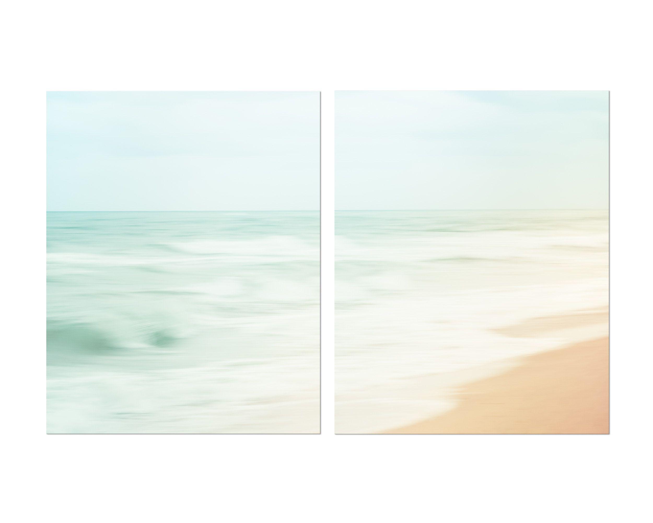 Beach Art Print Set Of 2 Canvas Wall