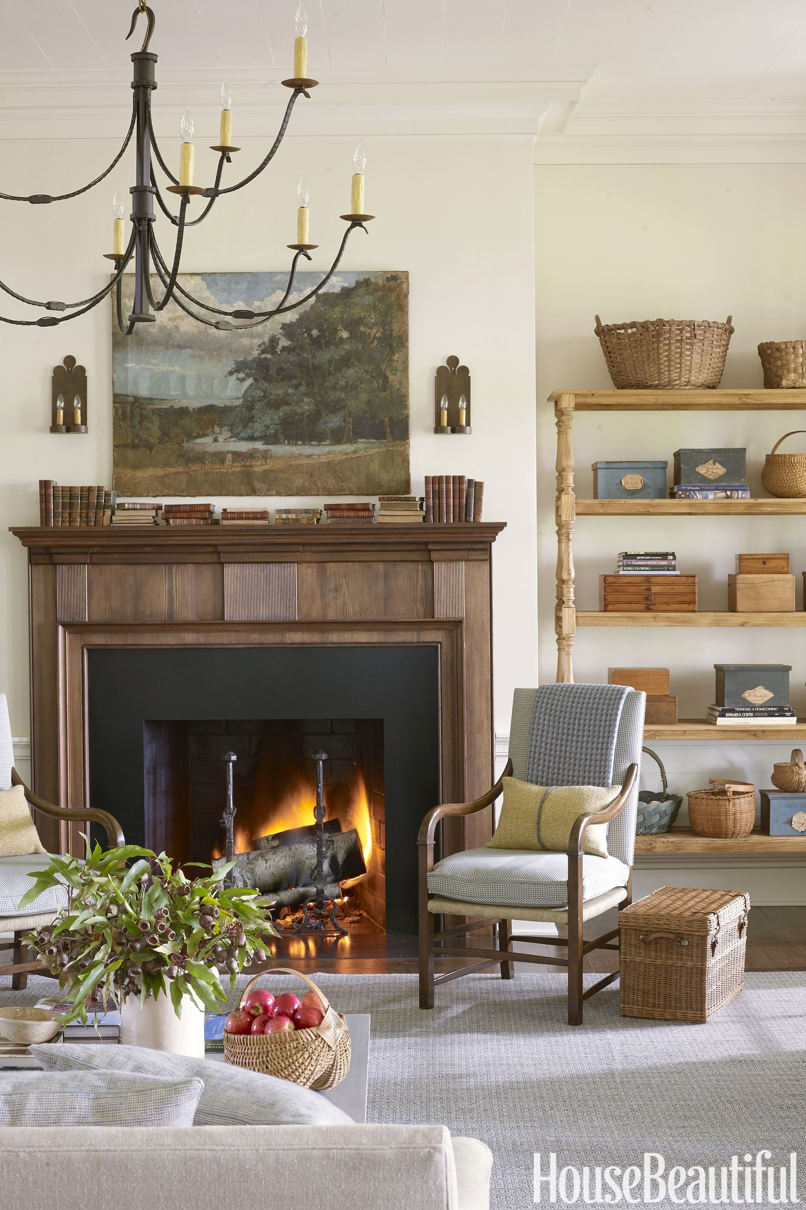 Living Room Designer Delectable This Country Home Is Singlehandedly Making Baskets Cool Again Design Ideas
