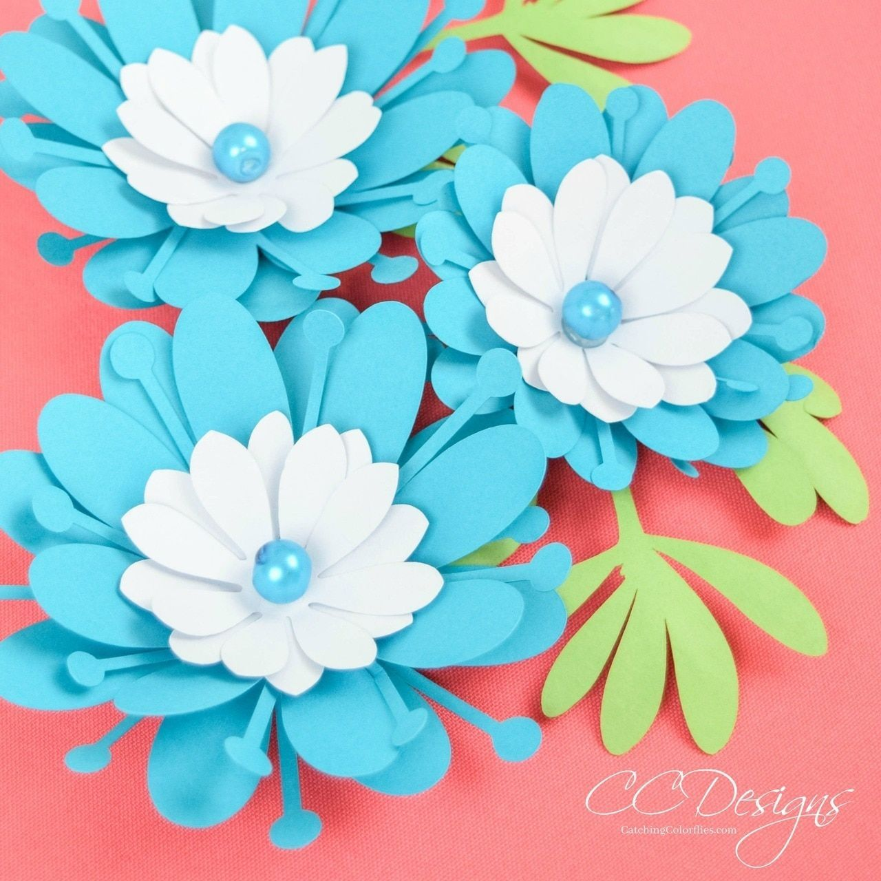 Small Clementine Paper Flower Template - Catching Colorflies #paperflowercenterpieces Small Clementine Paper Flower Template - Catching Colorflies #paperflowercenterpieces
