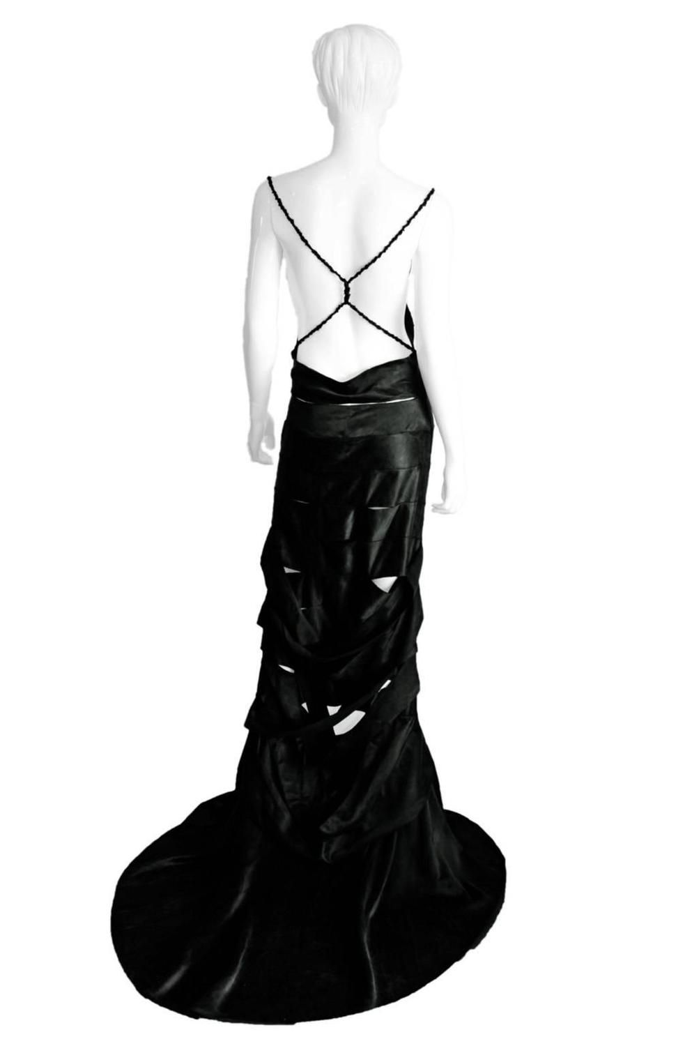 4cbb3ffd2 Uber Rare Tom Ford Gucci 2002 Gothic Collection Black Silk Backless Runway  Gown!   From