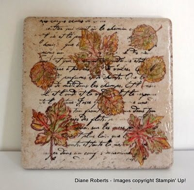 Score at Four and a Quarter: Fall Tile Trivet
