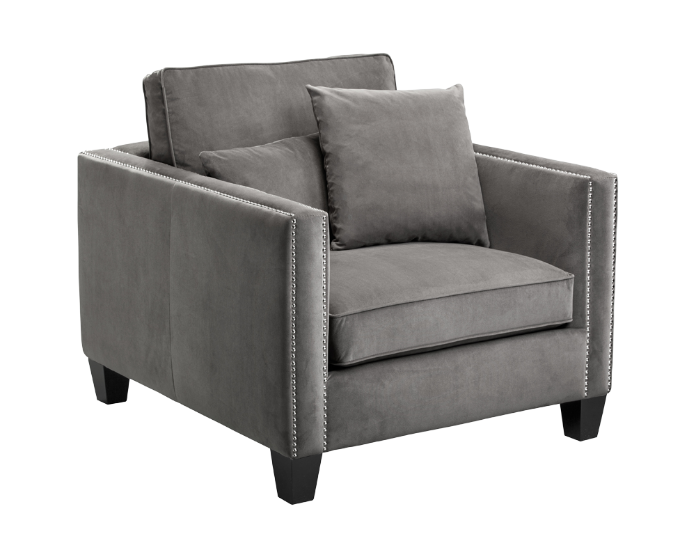 Best Cathedral Armchair Grey Fabric This European Designed 400 x 300