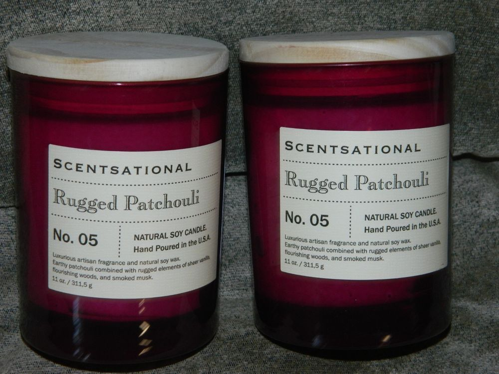 Scentsational 11 Oz Natural Soy Candle Rugged Patchouli Hand Poured X 2 34 99 End Date Friday Dec 14 2018 8 49 Pst It Now For
