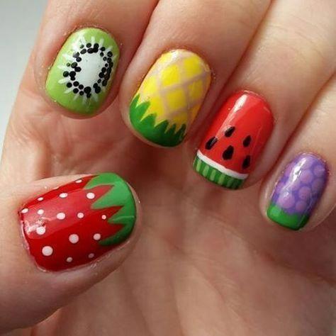 summernail in 2020  fruit nail art fruit nail designs