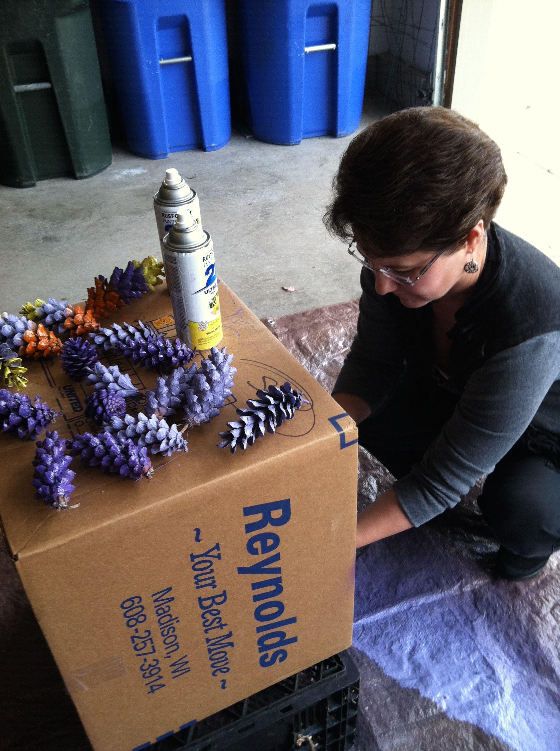 purple pinecones too!  thank zoe...