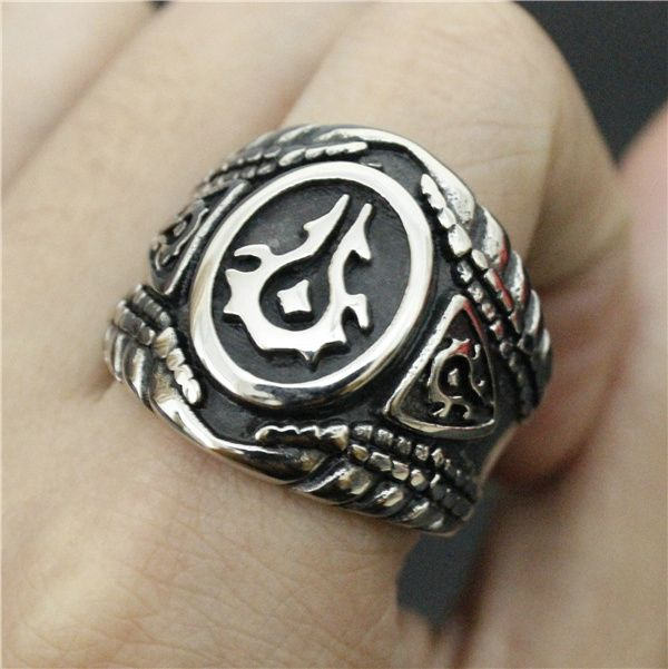 Size 714 Cool Warcraft Ring Ring 316L Stainless Steel Jewelry Biker