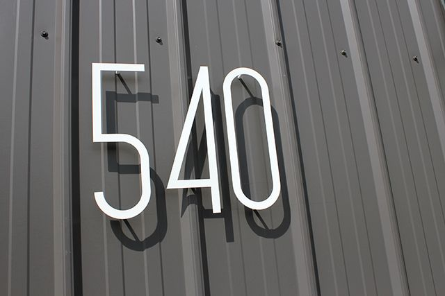 Minimalist architectural house numbers by Canadianbased company