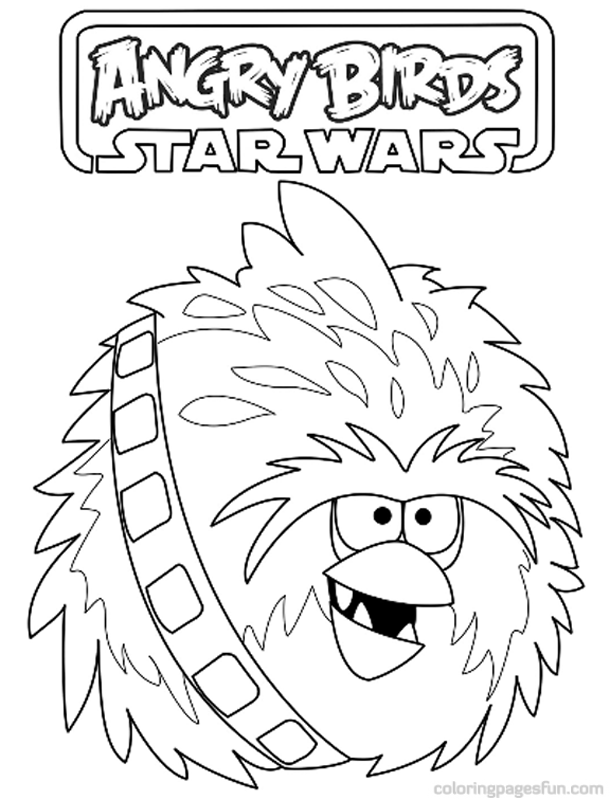 Angry Birds Star Wars Coloring Pages 12