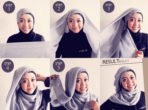 Tutorial Hijab Untuk Wajah Bulat Dan Tembem Gaya Hijab Kasual Kursus Hijab Model Pakaian