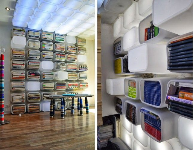 Use Ikea storage boxes to make this organization library in your