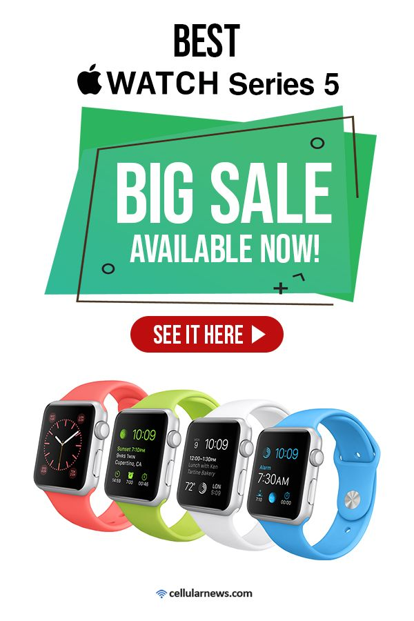 This Apple Watch Series BIG SALE a\is your dream come true! Check it out. #applewatch #series5 #greatdeals #bigsale #cellularnews