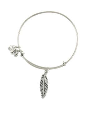 17cdb0dea Alex and Ani SM FEATHER SLV BRAC | Products | Bangle bracelets with ...