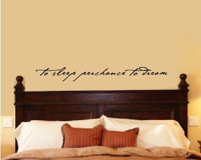 Bedroom Wall Decal Bedroom Decor Shakespeare Quote To Sleep ...