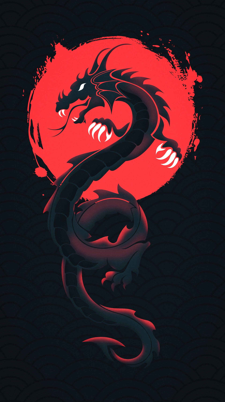 HD wallpaper: digital art, hydra, black background, fantasy art
