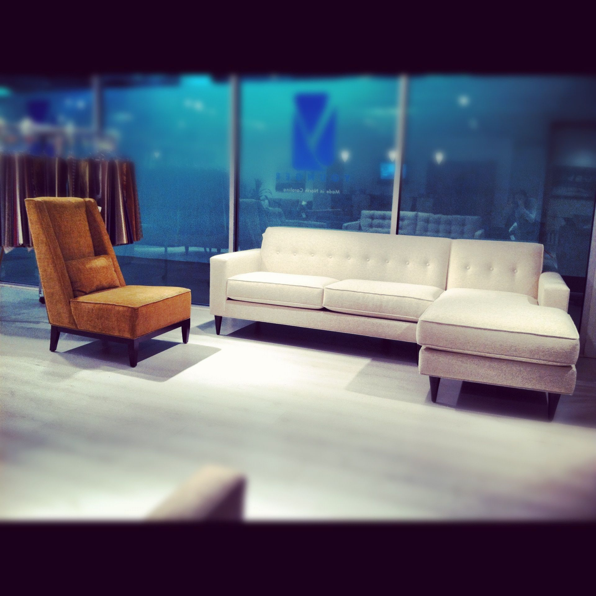 Younger Miller sectional and Hannah chair I want that sectional