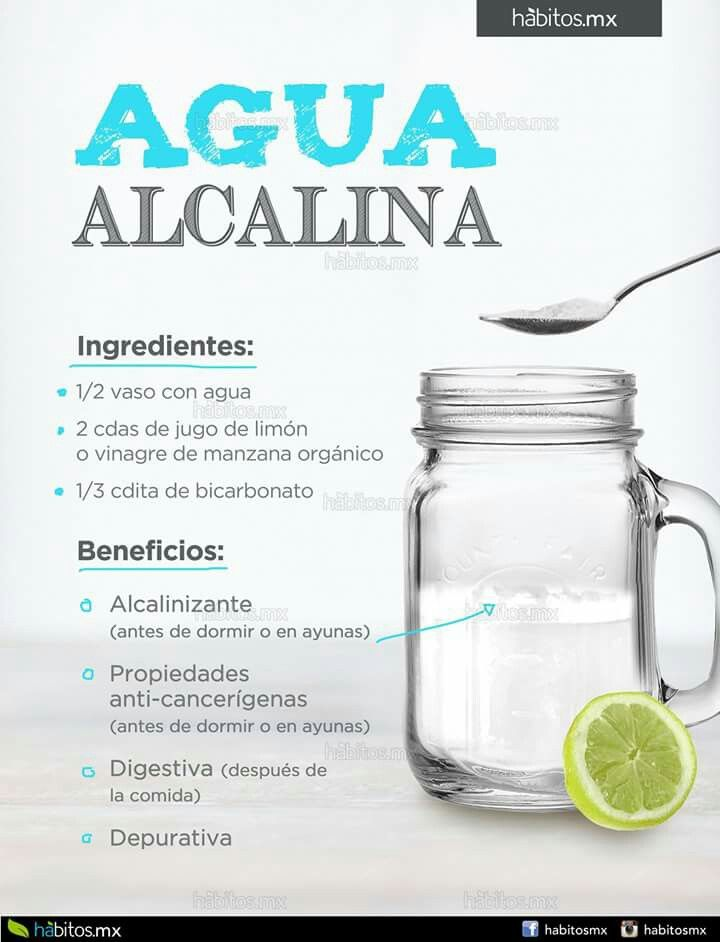 ?como hacer agua alcalina para bajar de peso