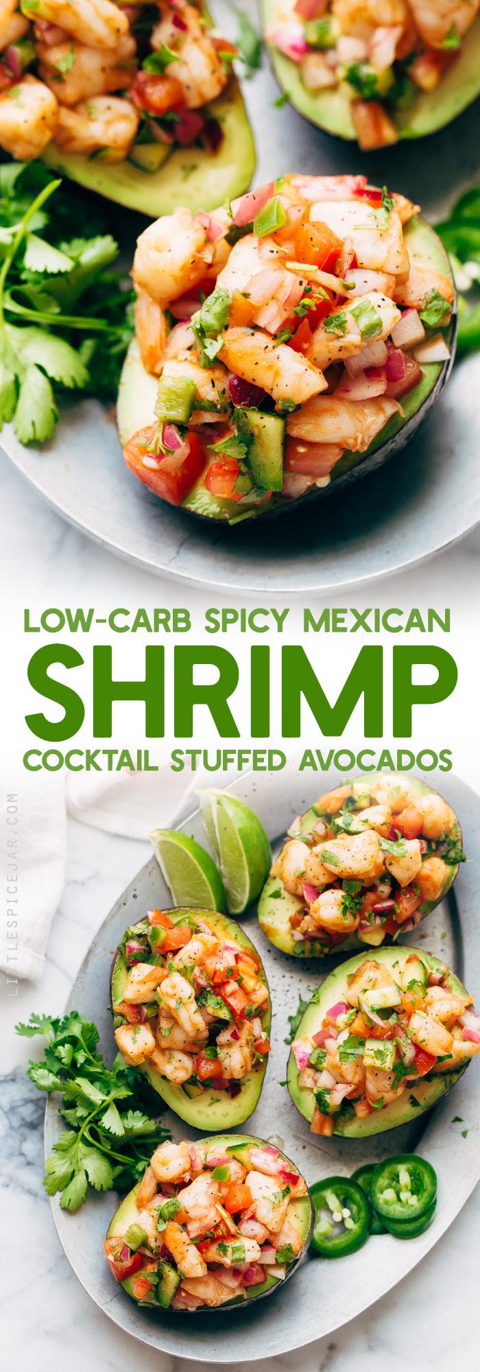 Mexikanischer Krabbencocktail Gefüllte Avocados Rezept   Kleines Gewürzglas  – Lunch