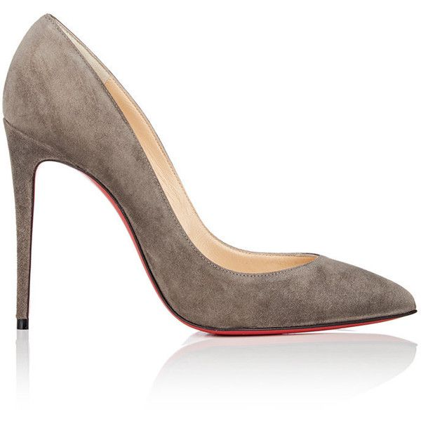 Christian Louboutin Women's Pigalle Follies Suede Pumps (5 400 SEK) ❤ liked on Polyvore featuring shoes, pumps, heels, louboutin, suede slip on shoes, suede pointed toe pumps, slip-on shoes, stiletto heel pumps and heel pump