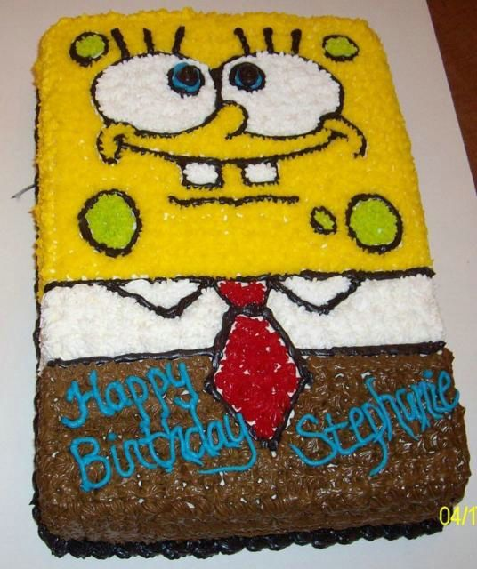 Spongebob Birthday Cakes Ideas Happy Birthday Pinterest