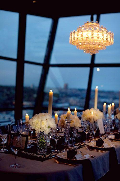 Swanky And Elegant Wedding Style At Canlis Junebug Weddings Seattle Restaurants Romantic Restaurant Fancy Restaurants