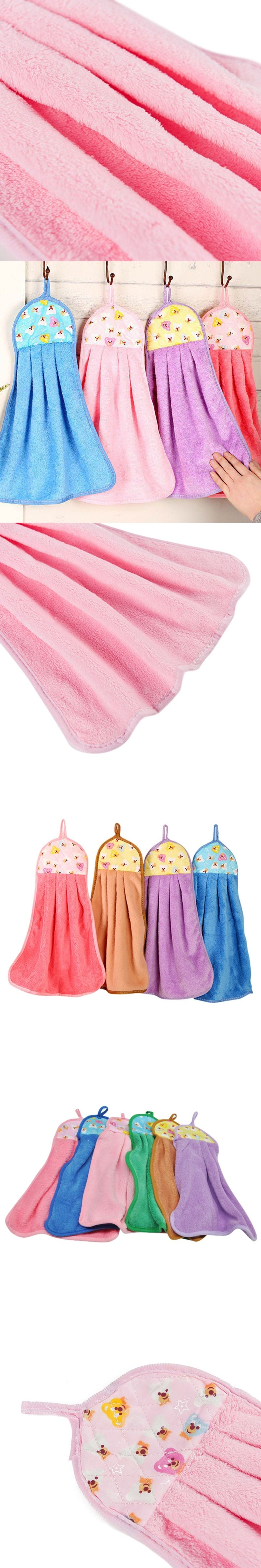 Kitchen drying hand towel hanging cleaning cloths useful strong