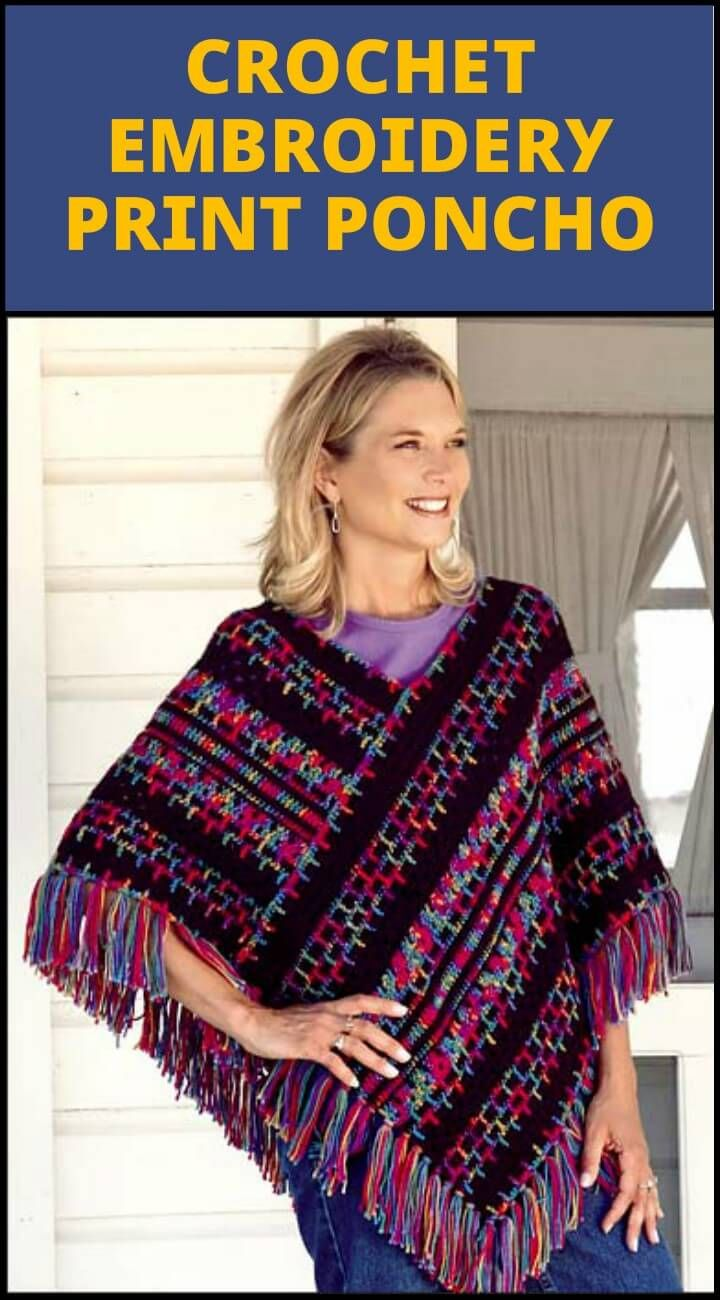 50 Free Crochet Poncho Patterns for All | Ponchos, Punto de crochet ...
