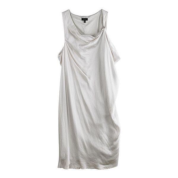 La Garçonne - CLU Sleeveless Wrap Dress ❤ liked on Polyvore featuring dresses, tops, haljine, sleeveless, sleeveless wrap dress, wrap dress, sleeveless cocktail dress, clu dress and no sleeve dress