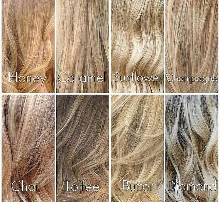 Different shades of blondes pinteres
