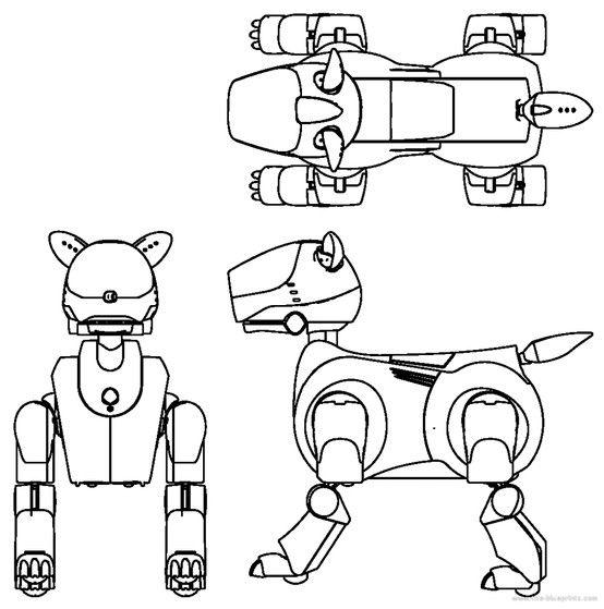 чертежи роботов с картинками девочки