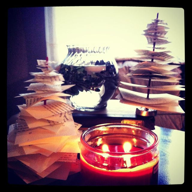 Scented Paper Christmas Trees {$1 cinnamon apple incense at family