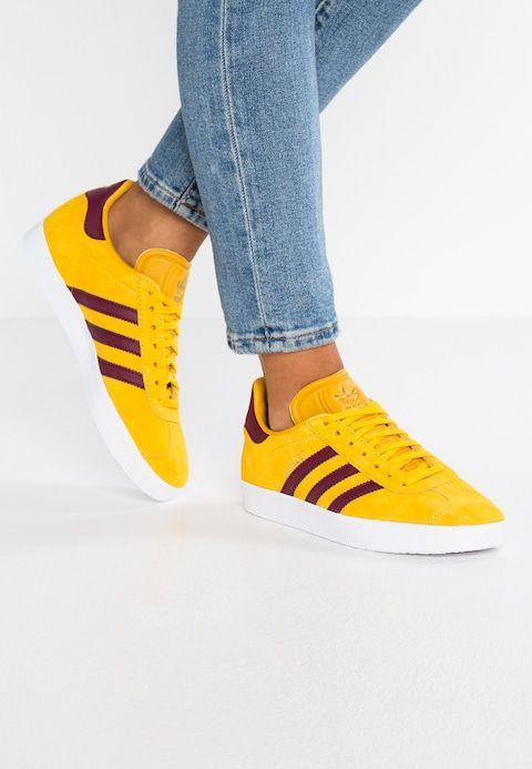 new concept c3389 c4216 adidas Originals GAZELLE - EXCLUSIVE - Trainers - ray yellow cherry  wood footwear white - Zalando.co.uk