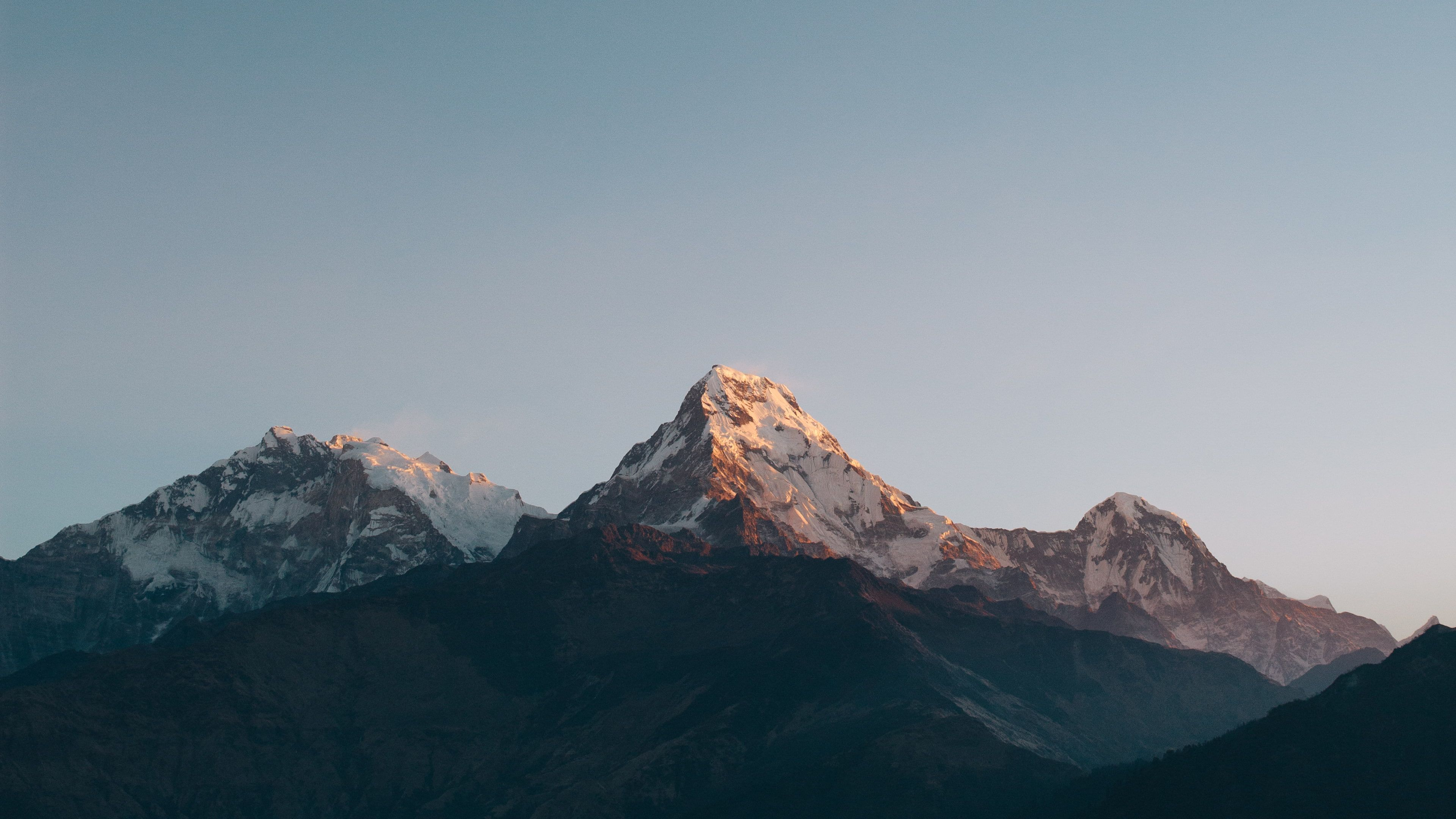 Sunrise Annapurna Massif Himalayas Minimal Mountains 4k Nepal 4k Wallpaper Hdwallpaper Minimal Desktop Wallpaper Minimal Wallpaper Sunrise Wallpaper