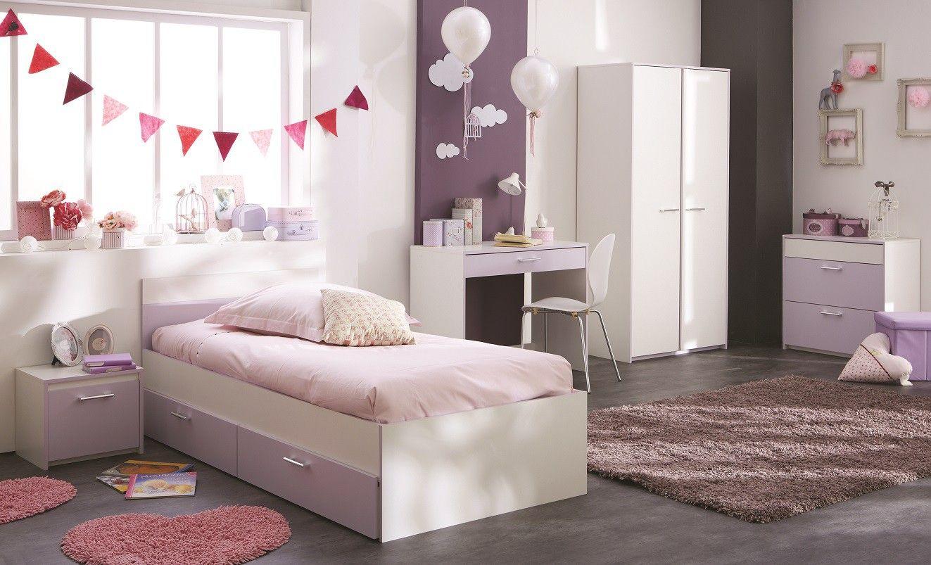 chambre compl te parme tons pastels pour une chambre toute en douceur chambre fille compos e. Black Bedroom Furniture Sets. Home Design Ideas