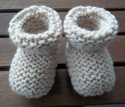 The Design Studio Baby Socks Booties Hand Knitting Pattern And