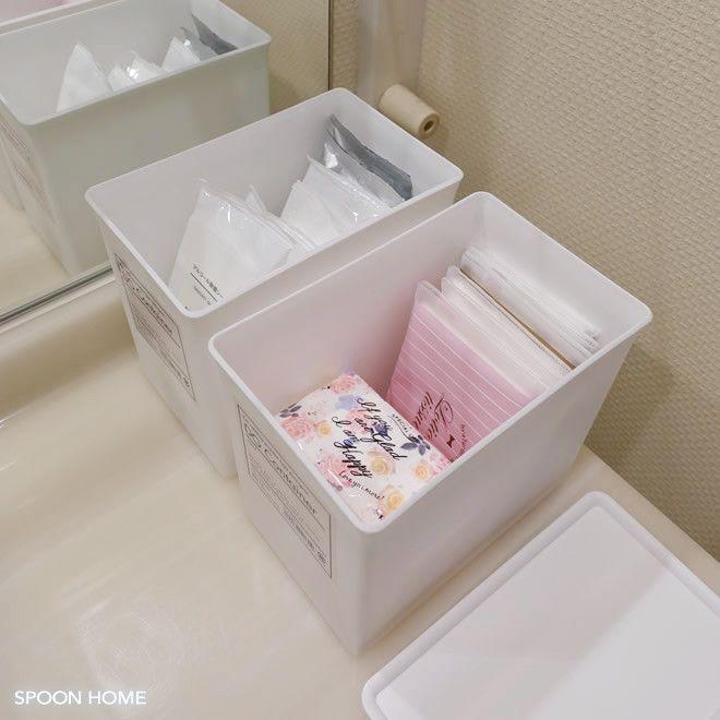 100均セリアの白色洗剤ケースの収納ブログ画像 収納 アイデア インテリア 収納 収納