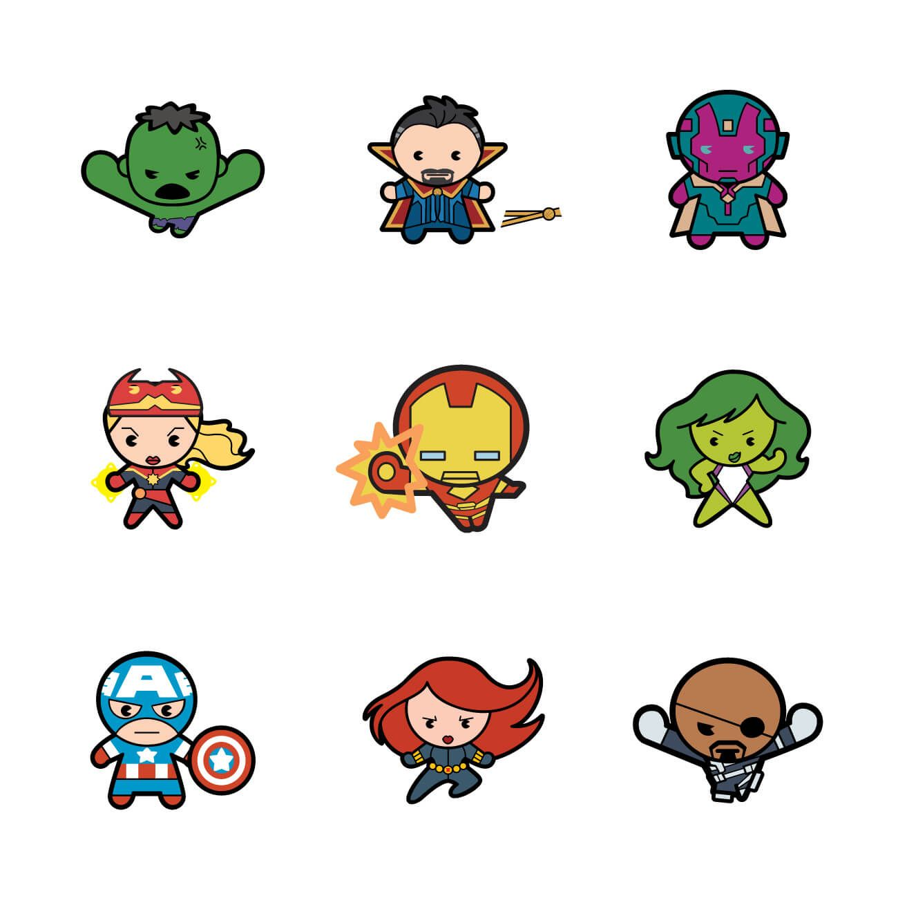 Marvel Malvorlagen Marvel Superhero The Marvel Super: Marvel® Avengers Kawaii Digital Cartridge