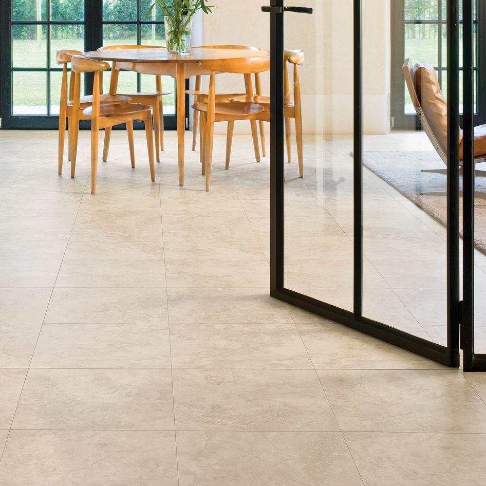 QuickStep Tila Cream Travertine Tile Effect Laminate