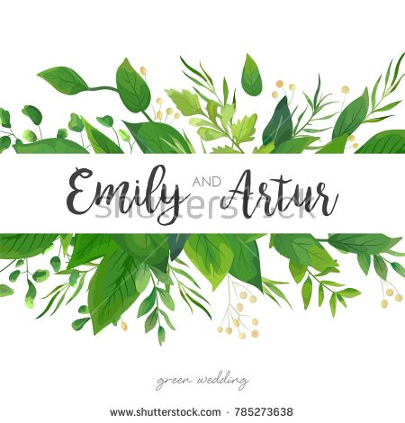 Wedding invitation save the date card floral design with green wedding invite invitation card vector floral greenery design forest fern frond eucalyptus branch green leaves foliage herb greenery berry frame border stopboris Image collections