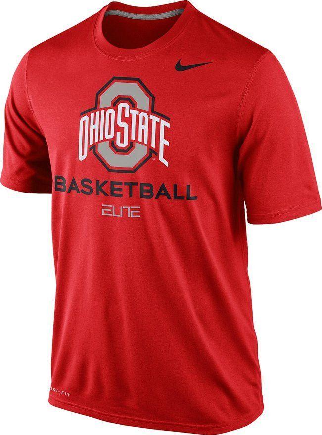 Ohio State Buckeyes Basketball Nike Elite Red Dri-Fit Mens T-Shirt
