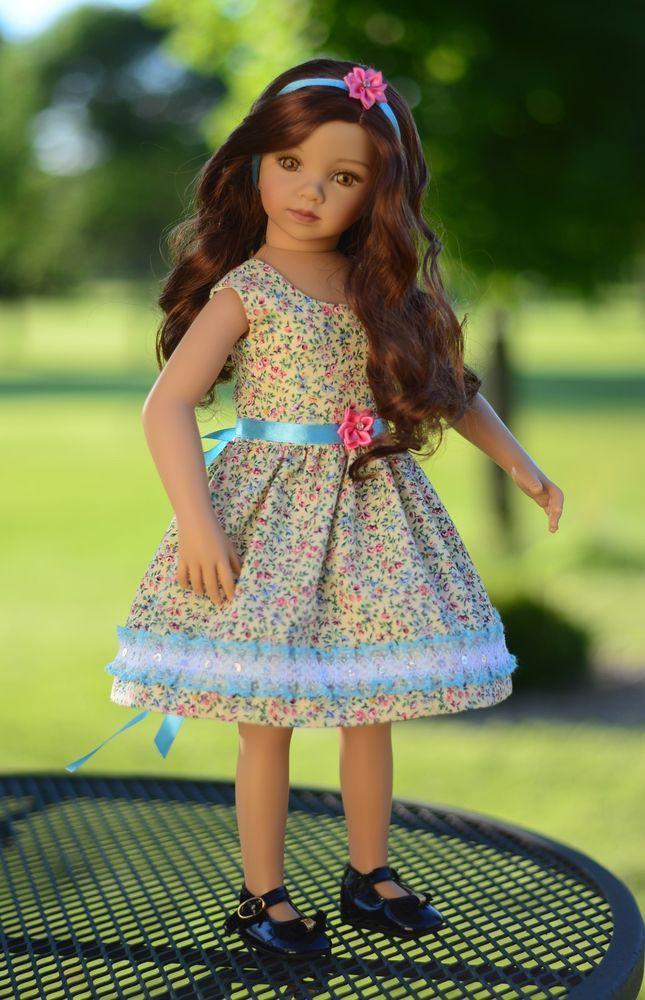 """SOLD """"Wild Flowers"""" Dress, Outfit, Clothes for 20"""" Dianna Effner Maru & Friends  #LuminariaDesigns"""