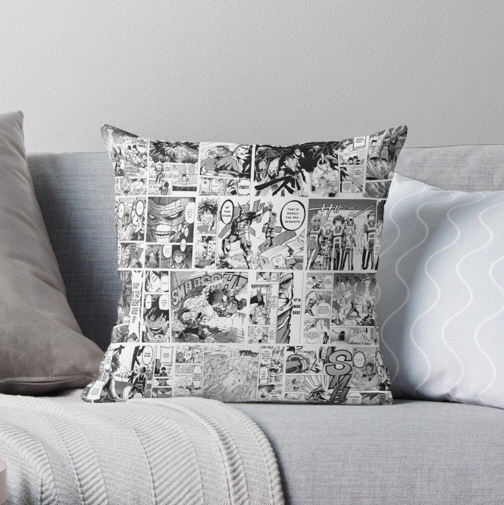 Mha manga panels throw pillow by tikasse in 2020