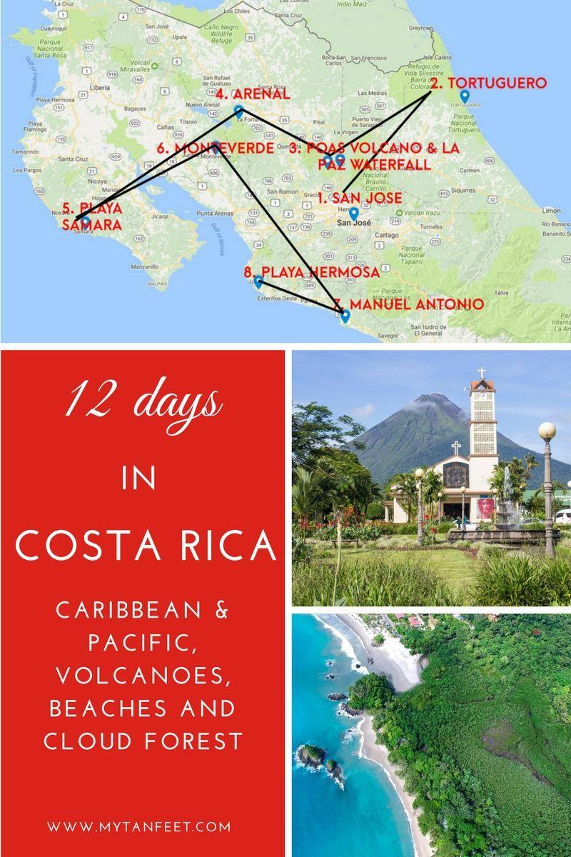 A 12 Day Costa Rica Itinerary That Goes Coast To Coast Caribbean Pacific Arenal Manuel Antonio San Jose And Samara Costa Rica Reise Reisen Mittelamerika