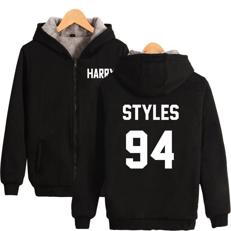 0ece4468a LUCKYFRIDAYF One Direction Harry Styles Winter Coat Men Hoodie Clothes  Zipper Cap Hoodies Men/Women Thick Warm Sweatshirt Price: 65.00 #tees